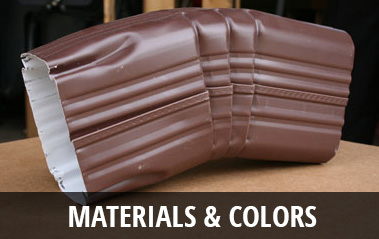 Gutters Materials & Colors